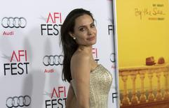"Director and cast member Angelina Jolie poses at the premiere of ""By the Sea"" during the opening night of AFI FEST 2015 in Hollywood, California November 5, 2015.  REUTERS/Mario Anzuoni"
