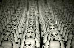 "Five hundred replicas of the Stormtrooper characters from ""Star Wars"" are seen on the steps of the Great Wall of China during a promotional event for ""Star Wars: The Force Awakens"" film, on the outskirts of Beijing, China in this October 20, 2015 file photo.REUTERS/Jason Lee/Files"