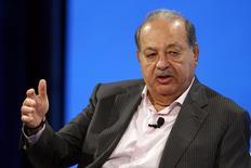 Imagen de archivo del magnate mexicano Carlos Slim durante una conferencia de telecomunicaciones en Laguna Beach, California. Octubre 2014.  REUTERS/Lucy Nicholson