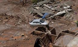 Destruição provocada pelo rompimento de barragens da Samarco em Mariana.   10/11/2015   REUTERS/Ricardo Moraes