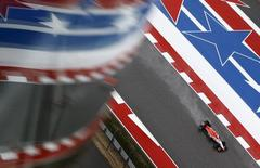 Manor Marussia Formula One driver Alexander Rossi of the United States drives during qualifying for the U.S. F1 Grand Prix at the Circuit of The Americas in Austin, Texas October 25, 2015.  REUTERS/Mike Stone