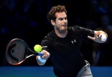Tennis - Barclays ATP World Tour Finals - O2 Arena, London - 16/11/15 Men's Singles - Great Britain's Andy Murray in action during his match against Spain's David Ferrer Reuters / Toby Melville Livepic