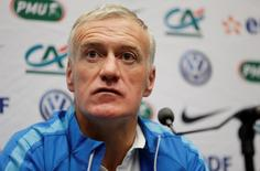Football - France Press Conference - Wembley Stadium, London, England - 16/11/15 France coach Didier Deschamps during the press conference  Action Images via Reuters / Henry Browne Livepic