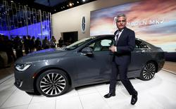Kumar Galhotra, president of Lincoln Motor Company, unveils the 2017 MKZ at the LA Auto Show in Los Angeles, California, United States November 18, 2015. REUTERS/Lucy Nicholson