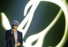 File photo of German singer Xavier Naidoo performing during the Echo Music Awards ceremony in Berlin March 4, 2010. REUTERS/Tobias Schwarz