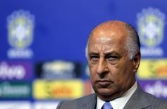 Presidente da Confederação Brasileira de Futebol, Marco Polo Del Nero, participa de entrevista coletiva, no Rio de Janeiro, em setembro. 17/09/2015 REUTERS/Sergio Moraes