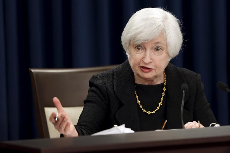 Federal Reserve Chair Janet Yellen holds a news conference following the Federal Open Market Committee meeting in Washington September 17, 2015.  REUTERS/Jonathan Ernst