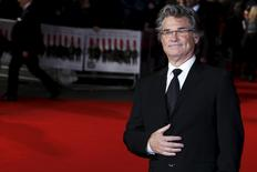 "Actor Kurt Russell poses as he arrives for the European premiere of ""The Hateful Eight"" at Leicester Square in London, Britain, December 10, 2015. REUTERS/Luke MacGregor"