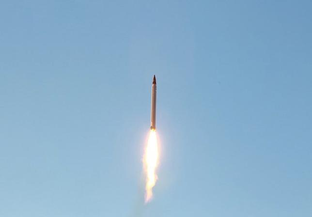 An Iranian Emad rocket is launched as it is tested at an undisclosed location October 11, 2015. REUTERS/farsnews.com/Handout via Reuters
