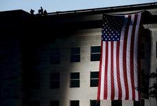 Bandeira dos Estados Unidos vista no Pentágono, em Washington.   11/09/2015   REUTERS/Gary Cameron