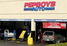A Pep Boys auto parts store is shown in Encinitas, California December 8, 2015.  REUTERS/Mike Blake