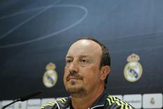 Técnico do Real Madrid, Rafa Benítez, durante evento na Espanha.   04/12/2015      REUTERS/Andrea Comas