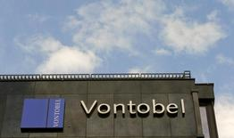 The logo of Swiss bank Vontobel is seen at an office building in Zurich July 27, 2015. REUTERS/Arnd Wiegmann