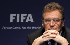 FIFA Secretary General Jerome Valcke attends a news conference after the meeting of the Ethics Committee at the Home of FIFA in Zurich in this November 18, 2010 file photo.   REUTERS/Christian Hartmann/Files
