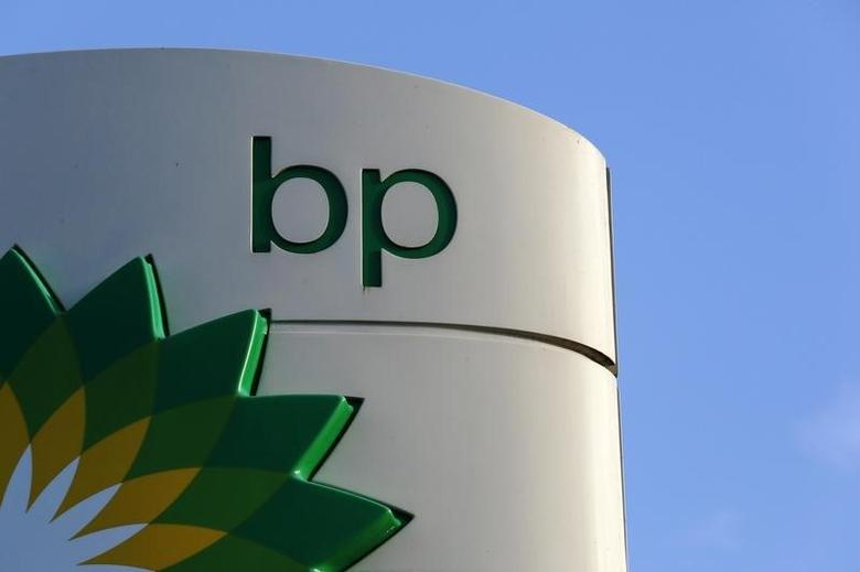 A BP logo is seen at a petrol station in London January 15, 2015. BP is expected to announce job cuts in its North Sea operations on Thursday, the BBC reported.    REUTERS/Luke MacGregor/Files  (BRITAIN - Tags: BUSINESS LOGO ENERGY EMPLOYMENT) - RTR4LJ46