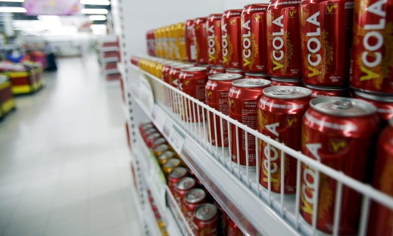 Soft drinks are displayed for sale at a V+ supermarket in Hanoi, Vietnam June 29, 2015. REUTERS/Kham