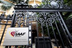 A view shows the IAAF (The International Association of Athletics Federations) headquarters in Monaco November 4, 2015. REUTERS/Eric Gaillard