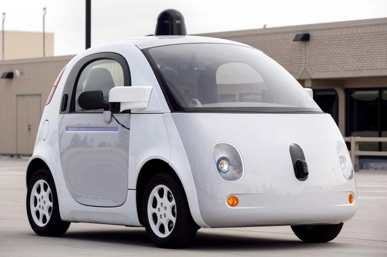 A prototype of Goodle's own self-driving vehicle is seen during a media preview of Google's prototype autonomous vehicles in Mountain View, California September 29, 2015.  REUTERS/Elijah Nouvelage