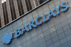 A Barclays sign is seen on the exterior of the Barclays U.S. Corporate headquarters in the Manhattan borough of New York City, May 20, 2015. REUTERS/Mike Segar