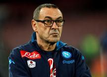 Napoli's coach Maurizio Sarri REUTERS/Ciro De Luca