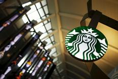 A Starbucks store is seen inside the Tom Bradley terminal at LAX airport in Los Angeles, California, in this file photo from October 27, 2015.   REUTERS/Lucy Nicholson/Files