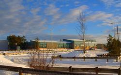 The Dene high school campus of the La Loche Community School is seen in an undated photo. REUTERS/Raymond Dauvin/Handout via Reuters