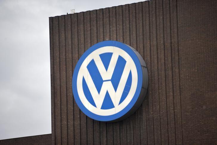 A lone bird sits atop of the Volkswagen power plant in Wolfsburg September 22, 2015. REUTERS/Axel Schmidt