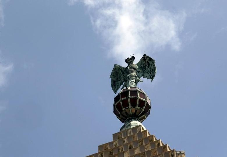 The bat, logo of Bacardi, is seen on top of the Art Deco building formerly used as the headquarters of the company, in Havana September 18, 2015. REUTERS/Stringer