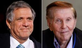 Les Moonves and Sumner Redstone.   REUTERS/Files