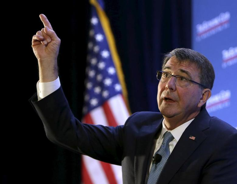 U.S. Secretary of Defense Ash Carter answers questions after his speech at the Economic Club of Washington winter breakfast in Washington, February 2, 2016.  REUTERS/Gary Cameron