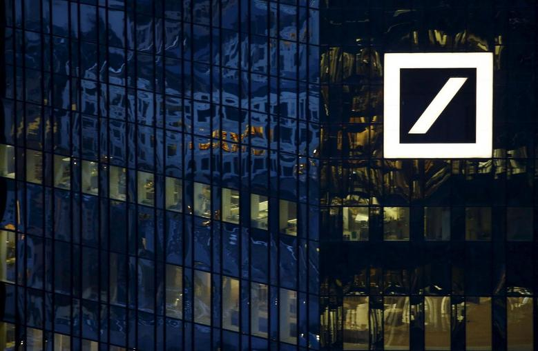 The headquarters of Germany's Deutsche Bank is photographed early evening in Frankfurt, Germany, January 26, 2016. REUTERS/Kai Pfaffenbach