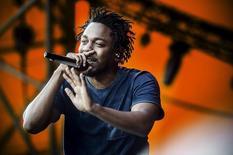 Kendrick Lamar durante show em Roskilde, na Dinamarca.  3/7/2015. REUTERS/Simon Laessoee/Scanpix Denmark