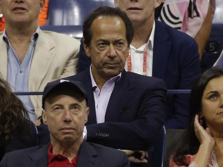 Hedge Fund manager John Paulson attends the men's singles final match between Roger Federer of Switzerland and Novak Djokovic of Serbia at the U.S. Open Championships tennis tournament in New York, September 13, 2015.      REUTERS/Mike Segar