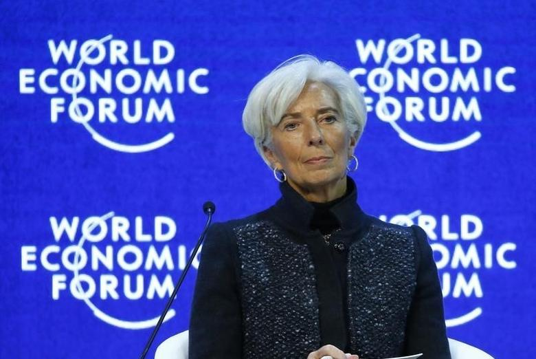 Christine Lagarde, Managing Director of the International Monetary Fund (IMF) attends the session ''The Global Economic Outlook'' during the annual meeting of the World Economic Forum (WEF) in Davos, Switzerland January 23, 2016. REUTERS/Ruben Sprich