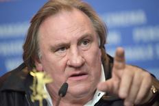 Ator Depardieu concede entrevista em Berlim.  19/2/2016.     REUTERS/Stefanie Loos