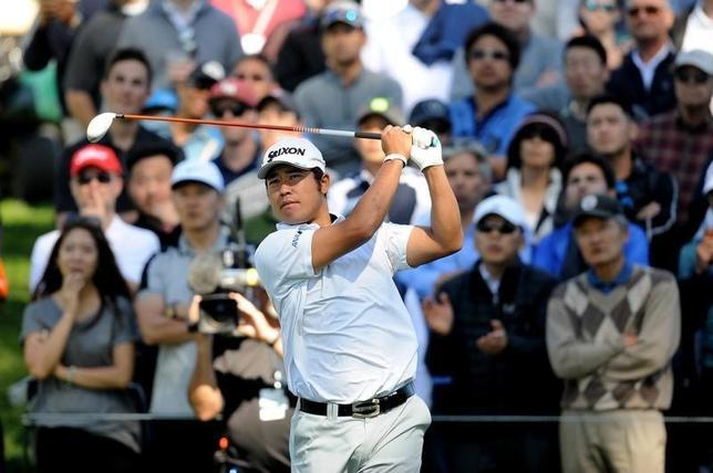 2月19日、米男子ゴルフのノーザントラスト・オープン第2ラウンド、松山英樹は67でラウンドし、通算6アンダーの136で7位タイに浮上した(2016年 ロイター/Gary A. Vasquez-USA TODAY Sports)