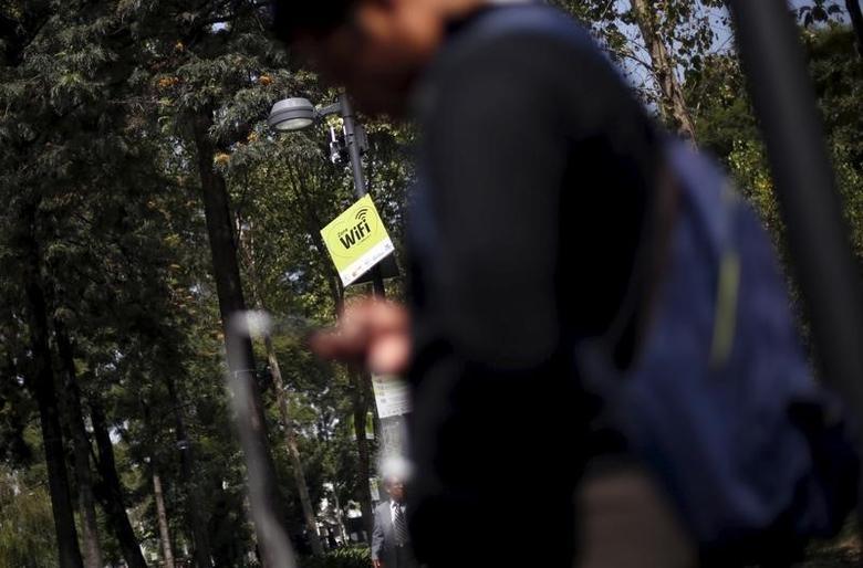 A wifi zone is seen in Mexico City, October 8, 2015.  REUTERS/Edgard Garrido