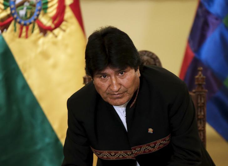 Bolivia's President Evo Morales leaves a news conference at the presidential palace in La  Paz, Bolivia, February 22, 2016. REUTERS/David Mercado