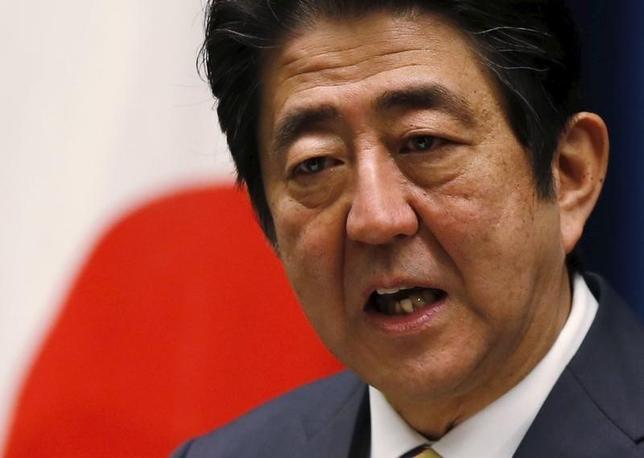 2月25日、安倍晋三首相は都内で講演し、「日本経済のファンダメンタルズはしっかりしており、好循環は確実に生まれている」との認識を示した。その上で「アベノミクスが失敗したという言説はまったく根拠がない」と強調した。写真は都内で1月撮影(2016年 ロイター/Toru Hanai)