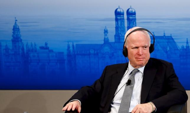U.S. Senator John McCain attends a panel discussion at the Munich Security Conference in Munich, Germany, February 14, 2016.   REUTERS/Michael Dalder