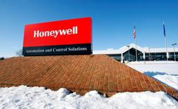 A view of the corporate sign outside the Honeywell International Automation and Control Solutions manufacturing plant in Golden Valley, Minnesota, in this file photo dated January 28, 2010. REUTERS/ Eric Miller