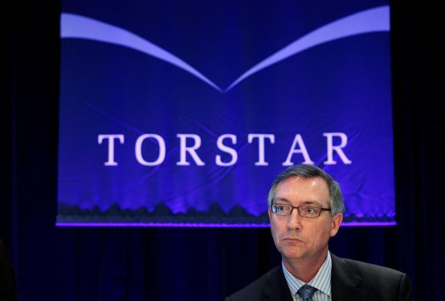 Torstar Corp President and Chief Executive Officer David Holland looks on at the annual general meeting for shareholders in Toronto, in this file photo taken on May 5, 2010. REUTERS/Mark Blinch