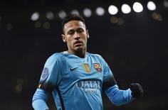 Neymar durante partida do Barcelona contra o Arsenal pela Liga dos Campeões. 23/02/2016 REUTERS/Toby Melville
