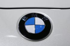 The logo of BMW is pictured during a media preview day at the Frankfurt Motor Show (IAA) in this September 10, 2013 file photo. REUTERS/Pawel Kopczynski