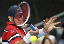File photo of John Isner of the U.S. during his fourth round match against Spain's David Ferrer at the Australian Open tennis tournament at Melbourne Park, Australia, January 25, 2016. REUTERS/John French