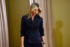 Tenista russa Maria Sharapova chega para entrevista coletiva em Los Angeles. 07/03/2016 REUTERS/Jayne Kamin-Oncea-USA TODAY Sports