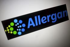 The Allergan logo is seen in this photo illustration in Singapore November 23, 2015. REUTERS/Thomas White
