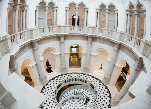 The circular balcony, closed since the 1920s, and new spiral staircase, are seen at Tate Britain in central London November 18, 2013. REUTERS/Olivia Harris