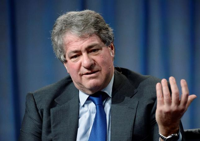 File photo of Leon Black, Chairman and CEO Apollo Global Management, LLC, taking part in Private Equity: Rebalancing Risk session during the 2014 Milken Institute Global Conference in Beverly Hills, California April 29, 2014.  REUTERS/Kevork Djansezian