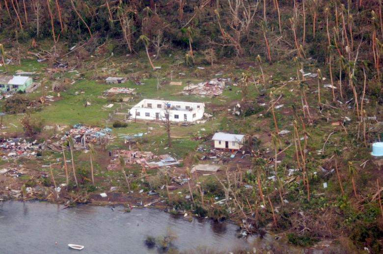 A remote Fijian village is photographed from the air during a surveillance flight conducted by the New Zealand Defence Force on February 21, 2016. REUTERS/NZ Defence Force/Handout via Reuters